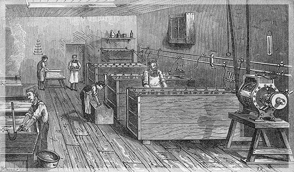 Гальваническое производство, США, конец XIX века